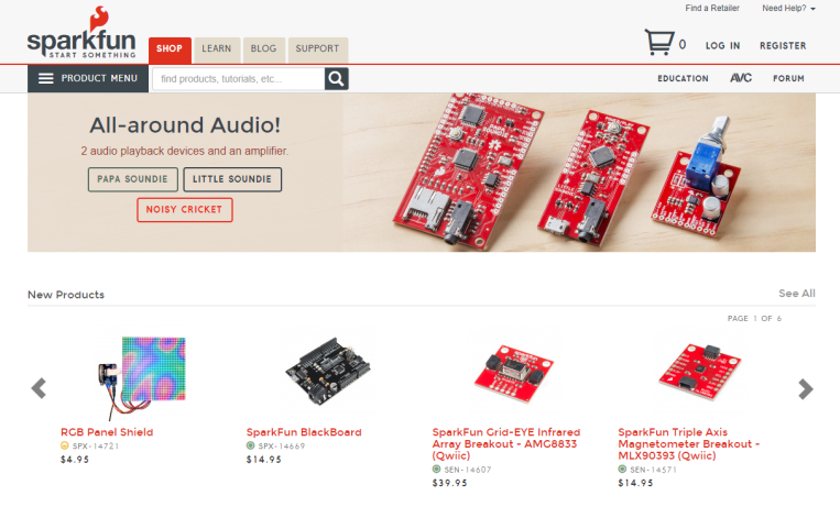 Sparkfun ScreenShot